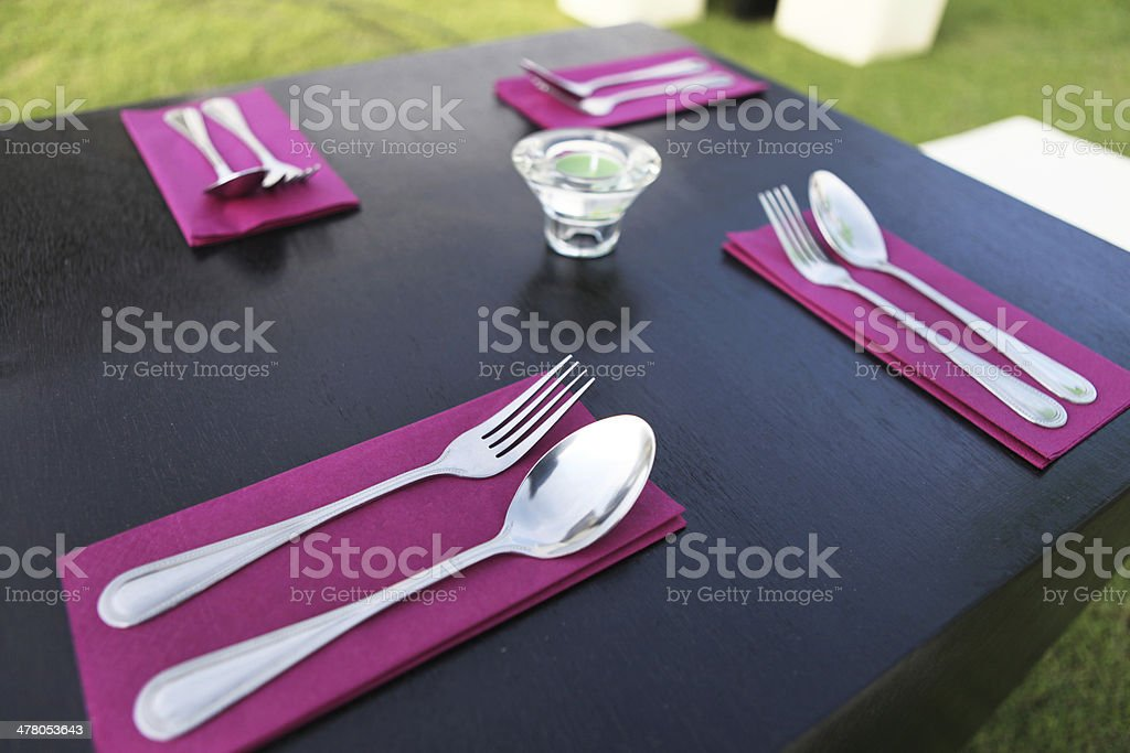 Table Setting outdoor royalty-free stock photo