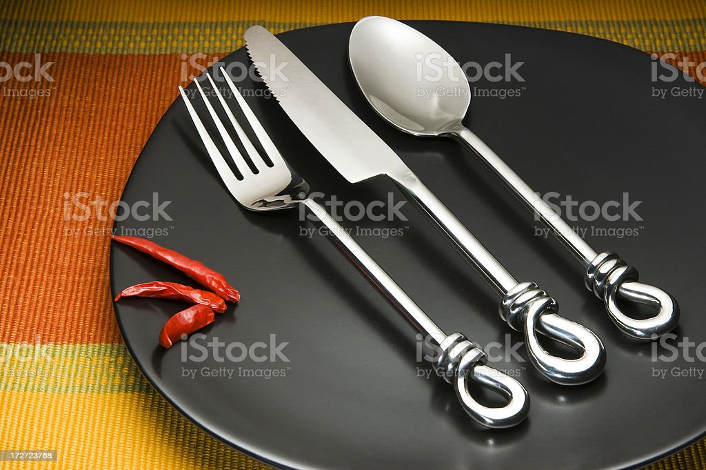 table setting royalty-free stock photo