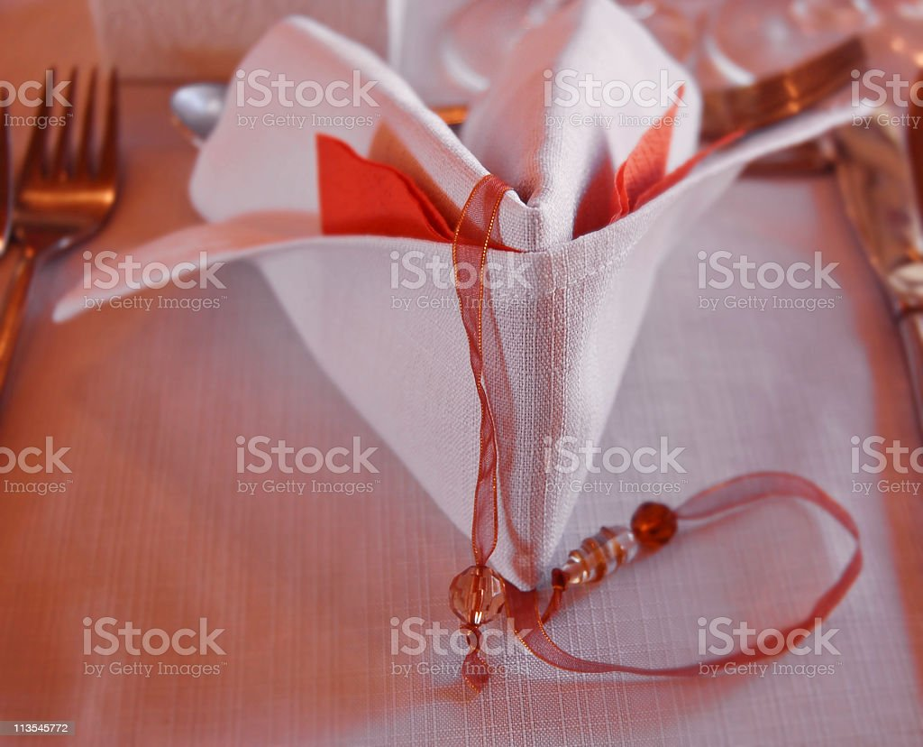 Table setting with ambiance royalty-free stock photo