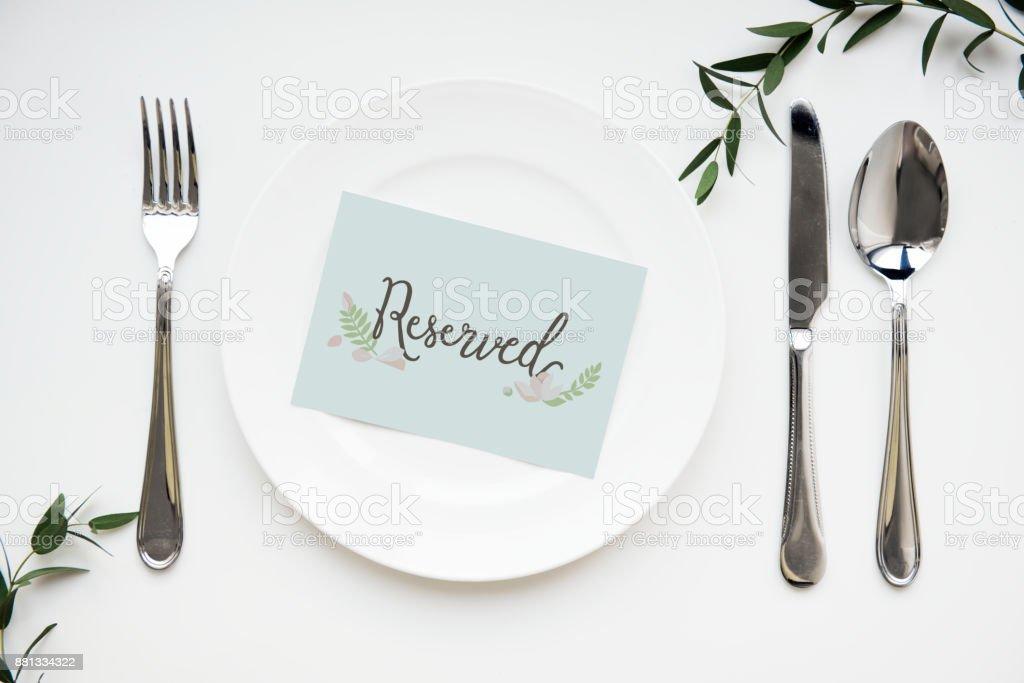 Ajuste De La Tabla Con Tarjeta Reservada - Stock Foto e Imagen de ...