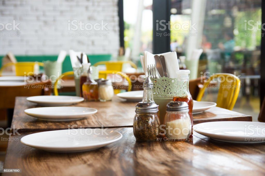 table setup - foto de stock
