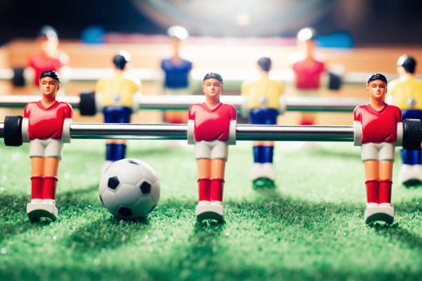 jogo de futebol de futebol de mesa - foto de acervo