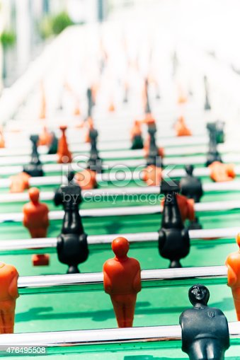 Table soccer close up shot. Canon 5D MK III