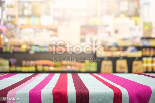 886308526 istock photo Table space platform and blurred bakery shop or coffee cafe background. 677423708