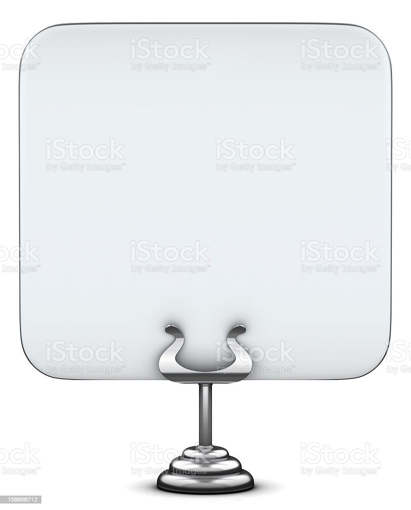 Table stand in front view royalty-free stock photo