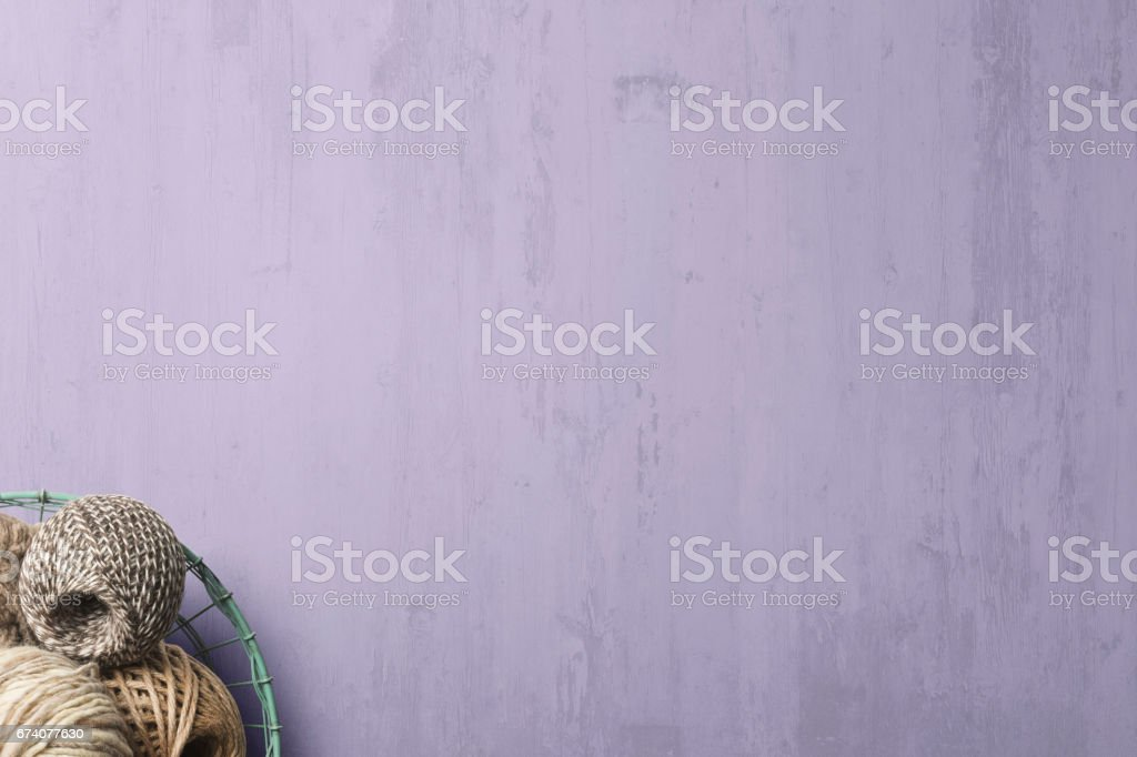 Table Surface with Various Whools On Corner of Frame royalty-free stock photo