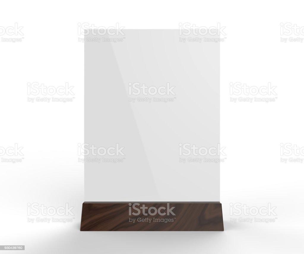 プロモーション直立メニュー テーブル テント サイン ホルダー テーブル