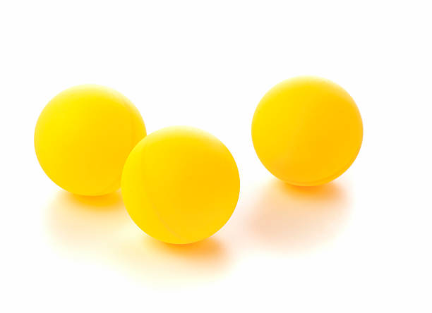 Table Tennis Balls stock photo
