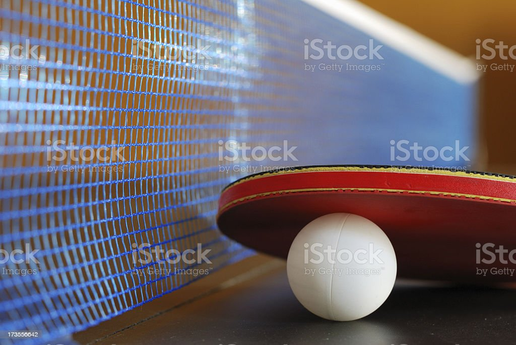 Table Tennis Close Up stock photo