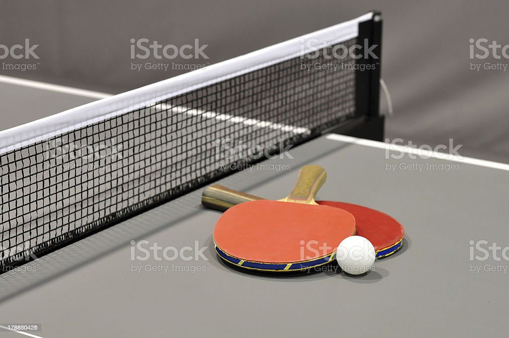 table tennis equipment royalty-free stock photo