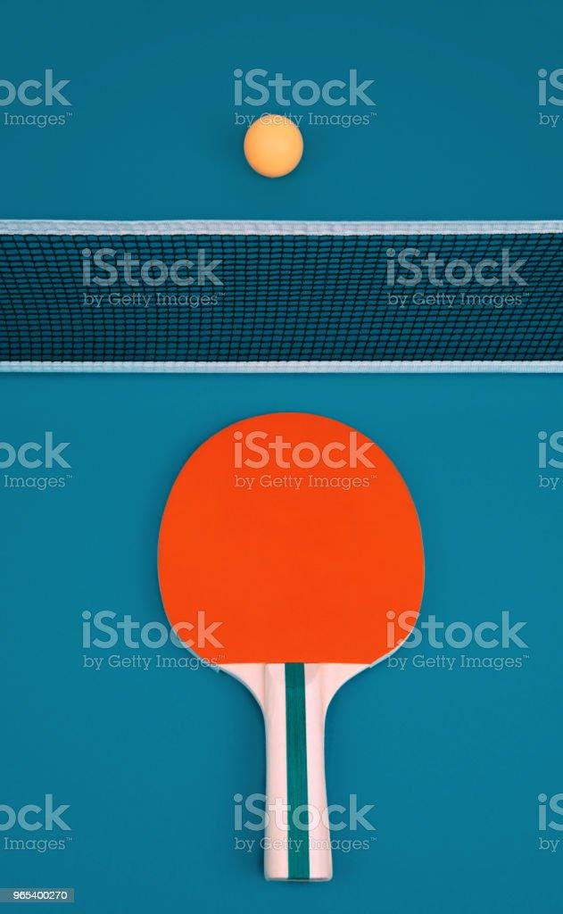 Table tennis or ping pong rackets and ball zbiór zdjęć royalty-free