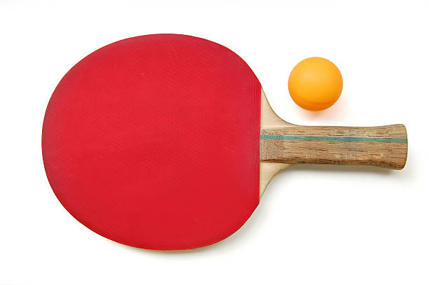 table tennis paddle & ball - table tennis racket stock pictures, royalty-free photos & images