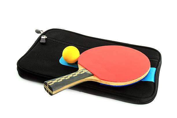 table tennis-Schläger und ball mit Tasche – Foto