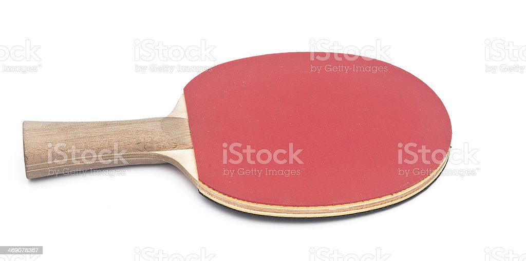 table tennis racket on white background royalty-free stock photo