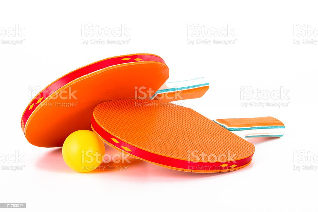Table Tennis Rackets and Ball royalty-free stock photo