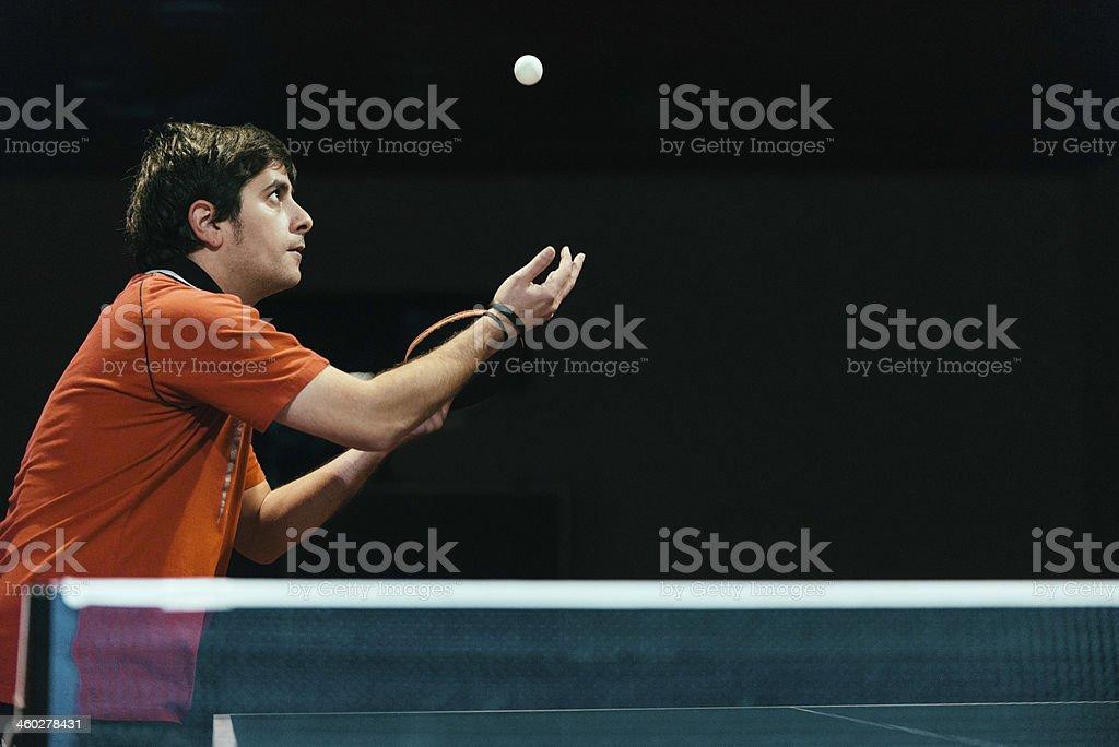 Table tennis serve royalty-free stock photo