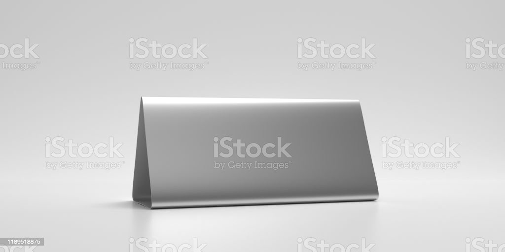 Table Tent Reserved Card Sign Empty Blank Isolated Against White Background 3d Illustration Stock Photo Download Image Now Istock