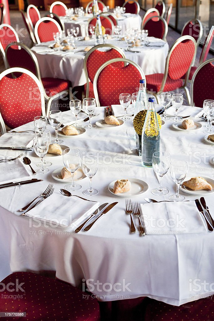 A Table That Has Been Served At A Fancy Restaurant Stock Photo IStock - Fancy restaurant table