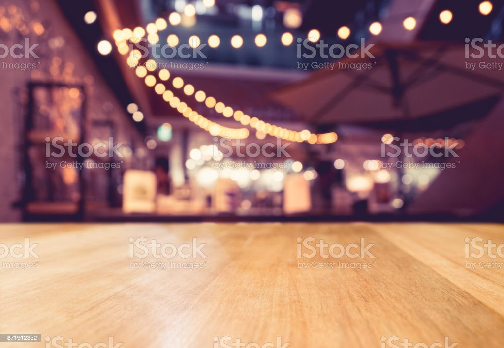 Table top counter Light decoration stock photo
