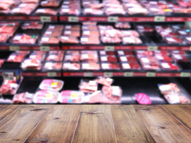 bordsskiva över oskärpa bakgrund av stormarknad - dagligvaruhandel, hylla, bakgrund, blurred bildbanksfoton och bilder