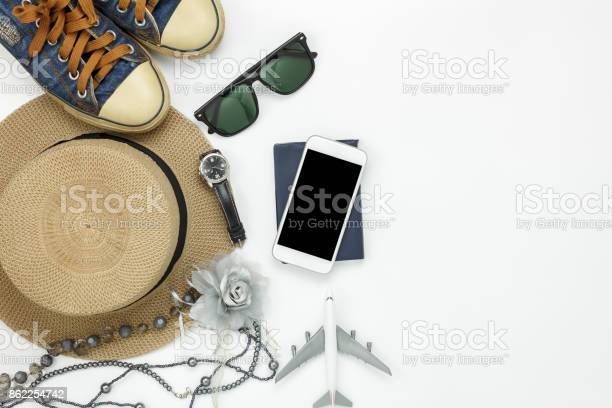 Table top view of accessory travel and fashion women with technology picture id862254742?b=1&k=6&m=862254742&s=612x612&h=tfur3aph0gkgd7 vw1nsw4dxsuoaq021bfrsr4hjati=