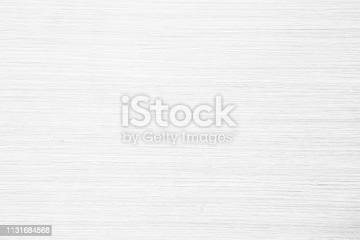istock Table top view of wood texture in white light natural color background. Grey clean grain wooden floor birch panel backdrop with plain board pale detail streak finishing for chic space clear concept. 1131684868