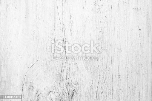 istock Table top view of wood texture in white light natural color background. Grey clean grain wooden floor birch panel backdrop with plain board pale detail streak finishing for chic space clear concept. 1145945124
