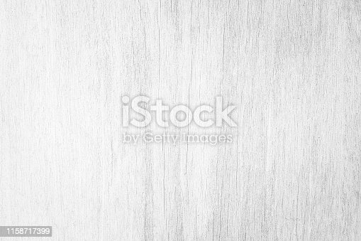 istock Table top view of wood texture in white light natural color background. Grey clean grain wooden floor birch panel backdrop with plain board pale detail streak finishing for chic space clear concept. 1158717399