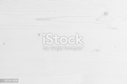 istock Table top view of wood texture in white light natural color background. Grey clean grain wooden floor birch panel backdrop with plain board pale detail streak finishing for chic space clear concept. 1182341928