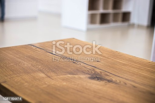 Table tops of solid oak and ash. Making furniture.