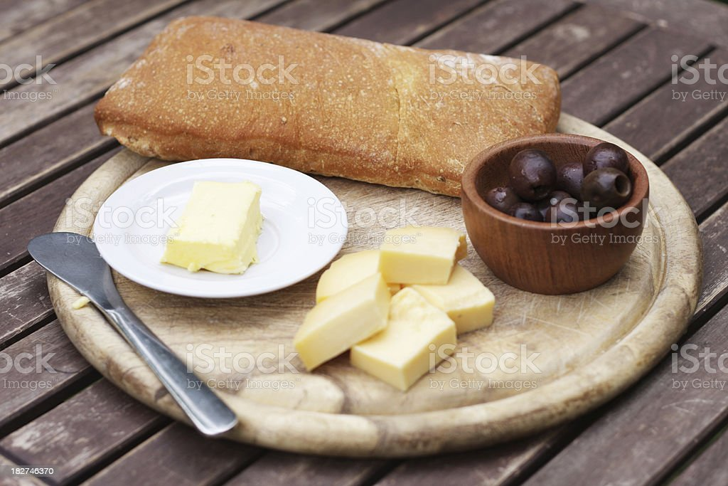 Table with appetizer royalty-free stock photo