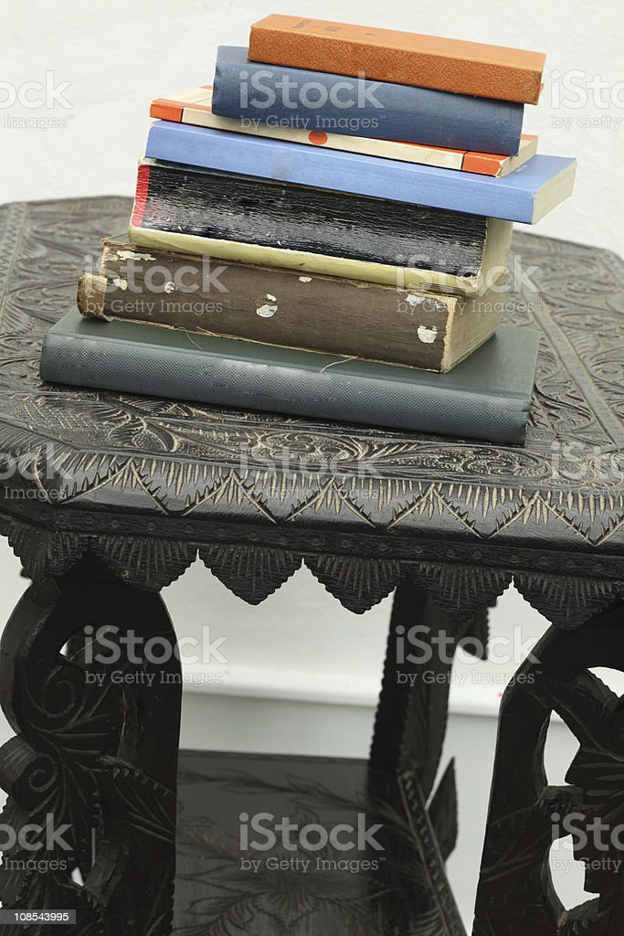 Table with books royalty-free stock photo