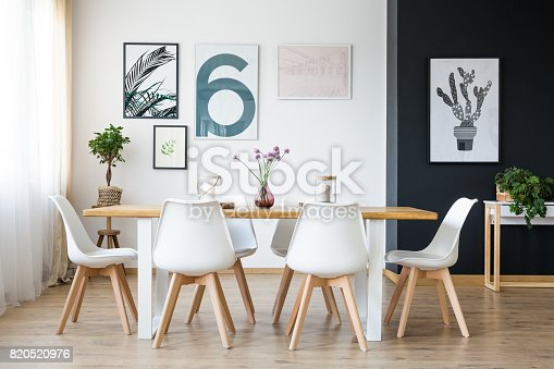 istock Table with chairs 820520976