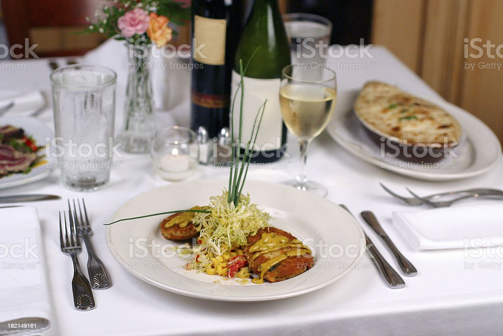 Table with dishes royalty-free stock photo