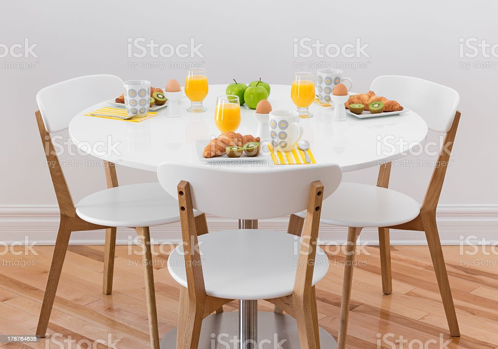 Table with healthy breakfast royalty-free stock photo
