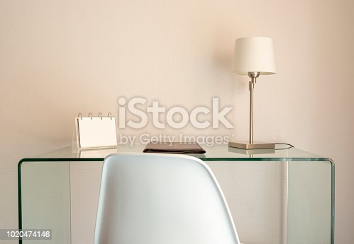 Elegant table with lamp