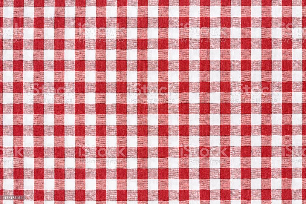 photo libre de droit de nappe À carreaux rouge et blanc de texture
