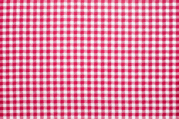 Tablecloth checkered red and white texture background, Napkin in Tablecloth checkered red and white texture background, Napkin in red and white cage plaid stock pictures, royalty-free photos & images