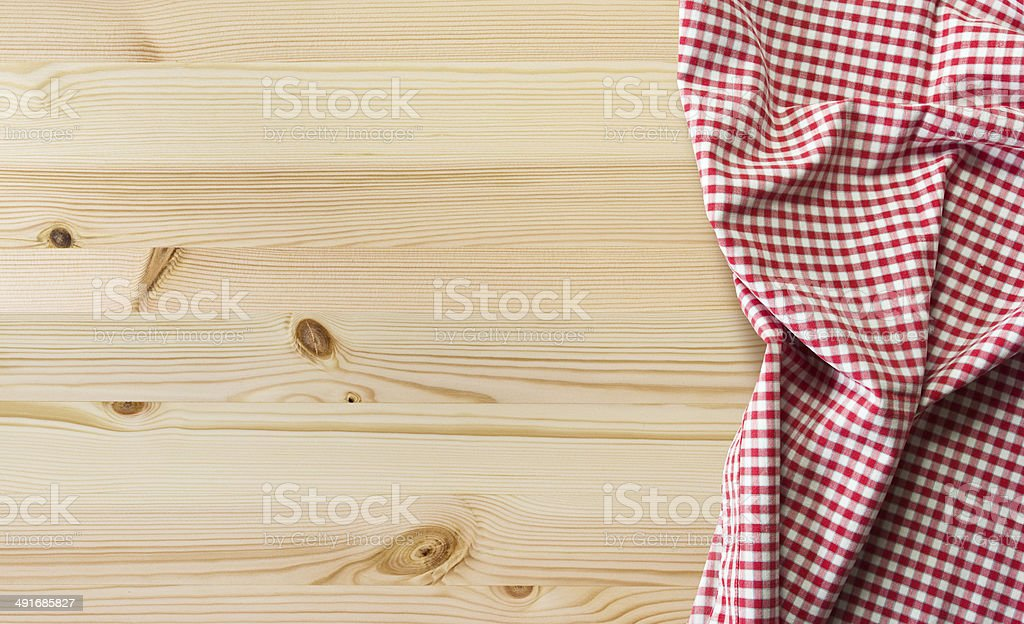 tablecloth on table stock photo