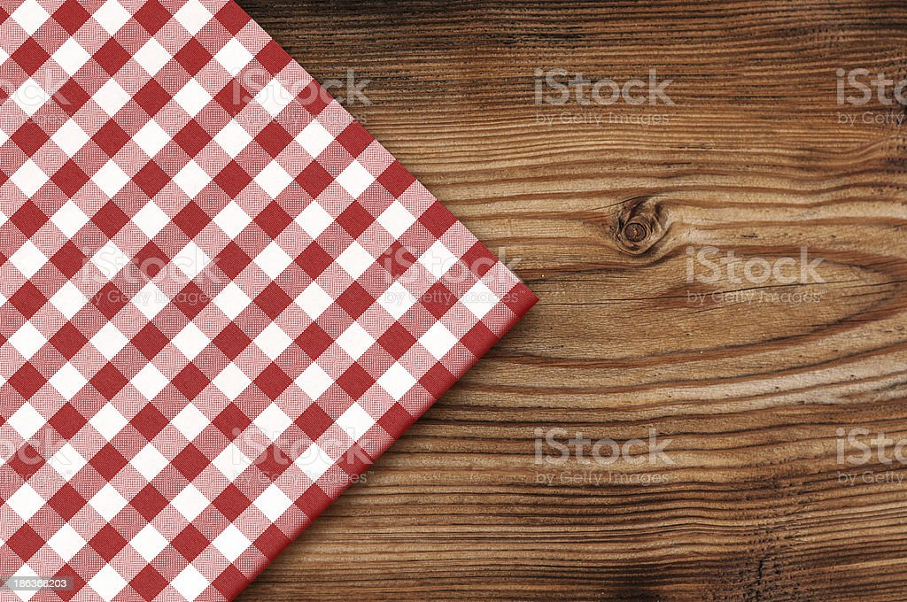 ... Tablecloth On Wooden Table Background Stock Photo ...
