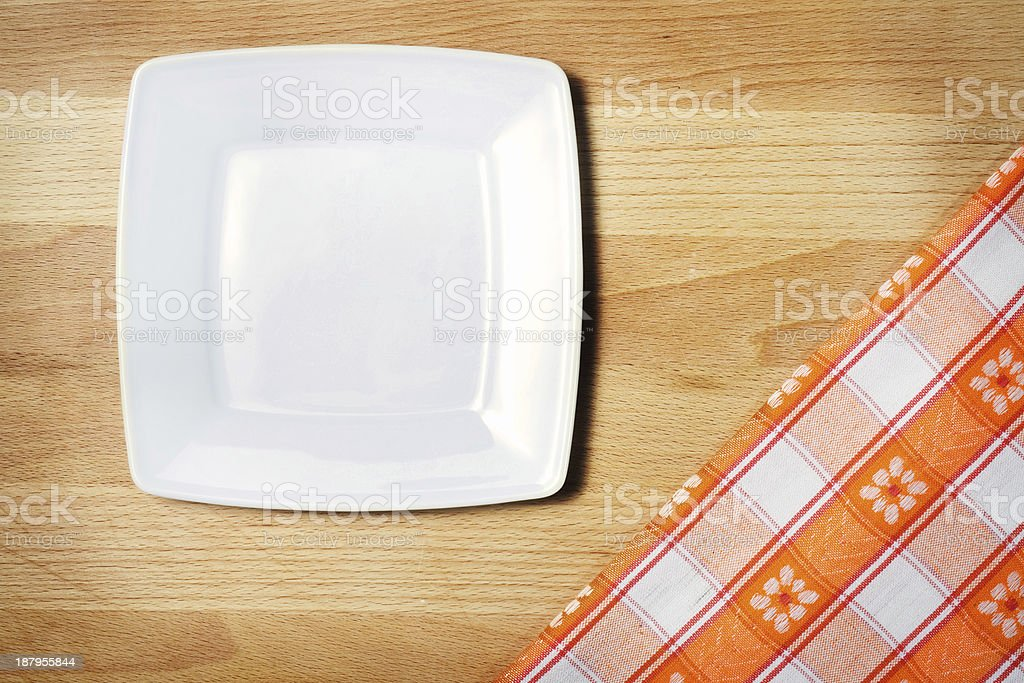 Tablecloth on wooden table background royalty-free stock photo