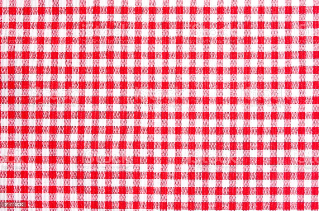 Tablecloth red white pattern stock photo