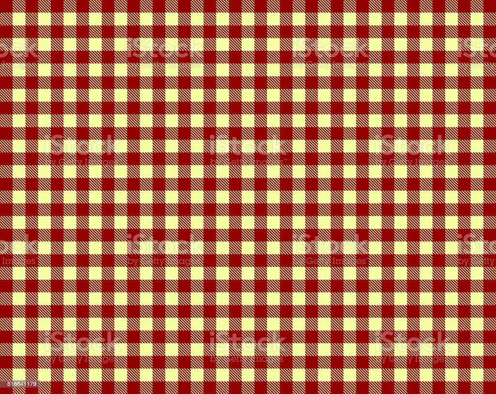 Tablecloth red yellow stock photo