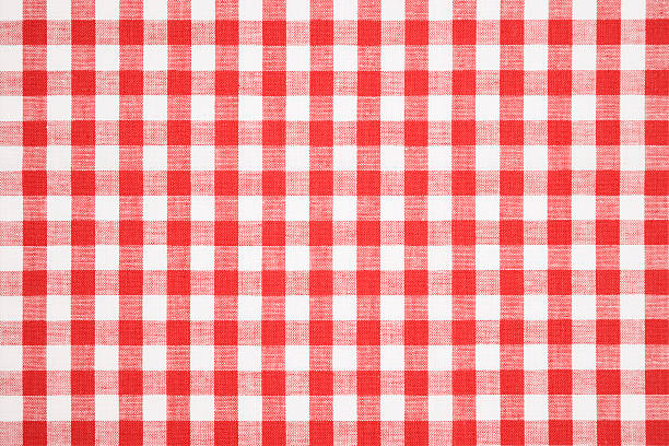 Tablecloth texture-checked fabric stock photo