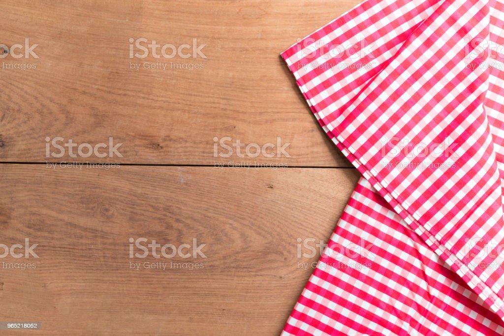 Tablecloths on the wooden table background zbiór zdjęć royalty-free