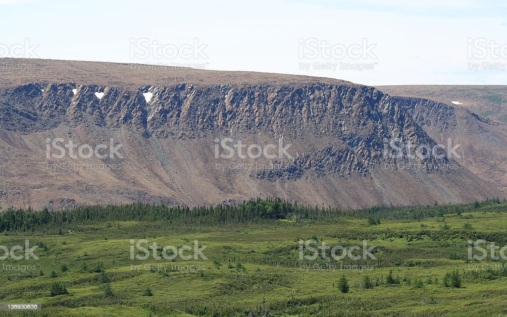 Tablelands in Newfoundland stock photo