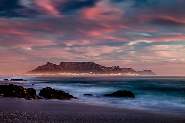 tablemountain cape town - table mountain south africa stock pictures, royalty-free photos & images