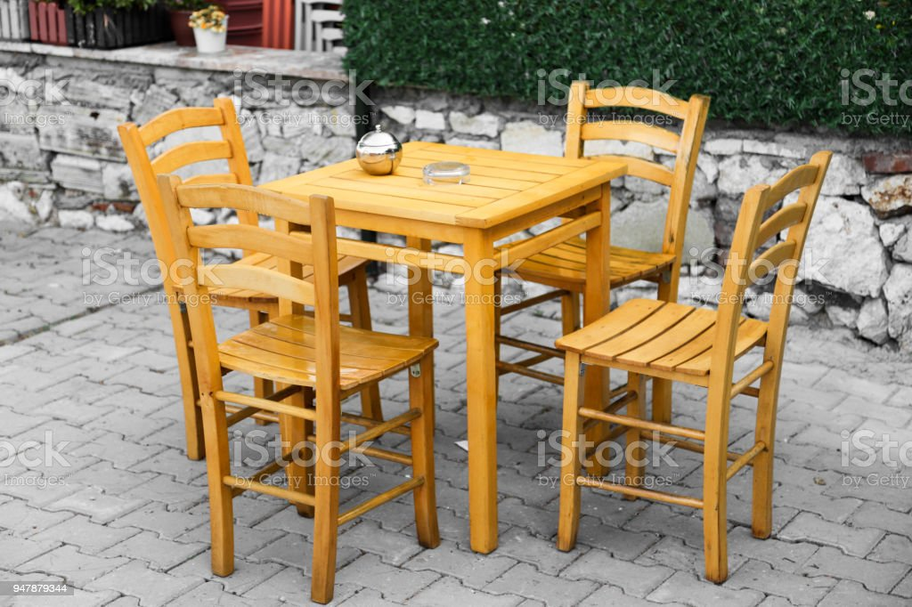 Tables And Chairs In Cafe Or Restaurants Outside Stock Photo Download Image Now Istock