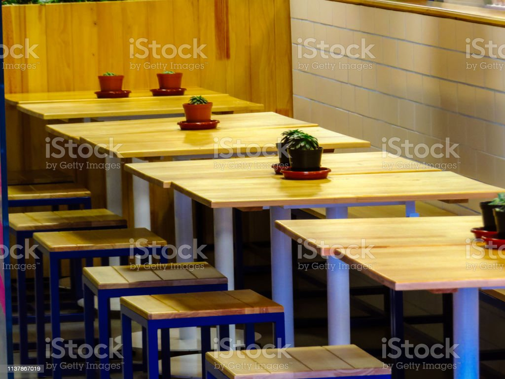Tables And Chairs In Coffee Shop Stock Photo Download Image Now Istock