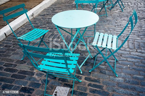 istock Tables and chairs in pub in London, UK. 476610308